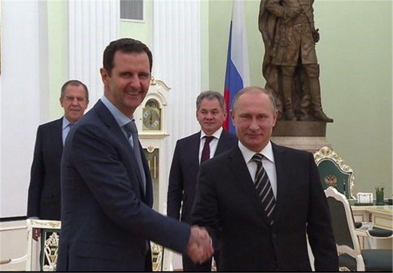 پیام تبریک بشار اسد به پوتین