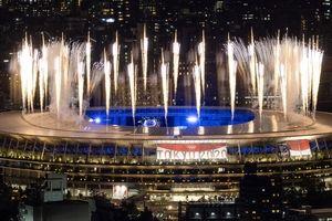 تصاویری چشمنواز از نورپردازی سهبعدی اختتامیه المپیک + ویدئو و تصاویر