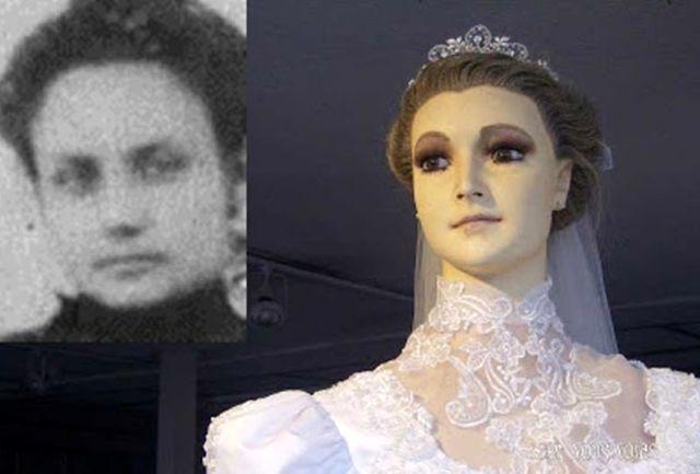 جسد این زن جوان تبدیل به مانکن عروس شد+عکس