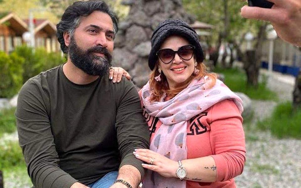 لحظات عاشقانه بهاره رهنما و حاجی در حال تاببازی روی عرشه کشتی + عکس